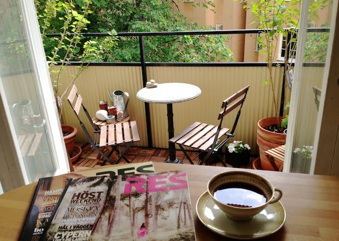 Lägenhet med balkong Hornstull