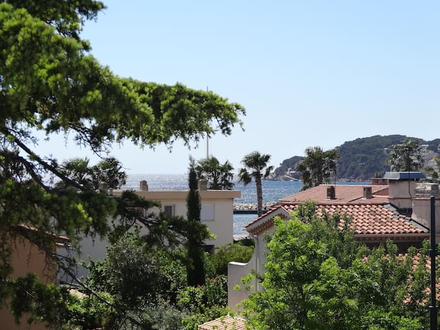 2 rooms near beach & Sanary center - Six-Fours-les-Plages - Apto. en complejo residencial