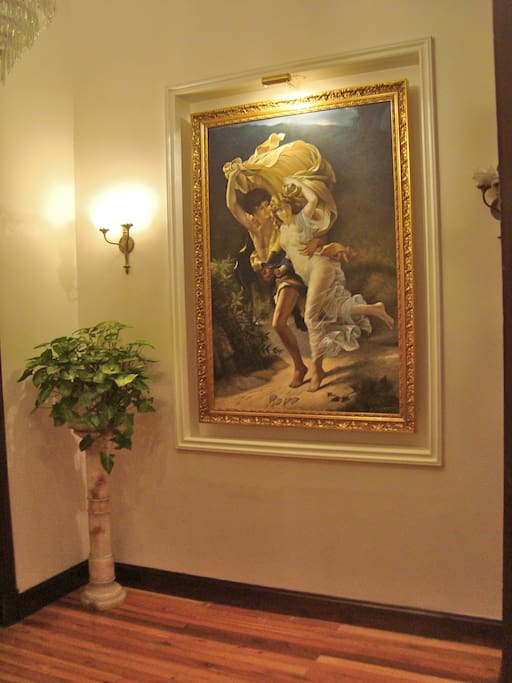Entry foyer romance with a bit of fantasy