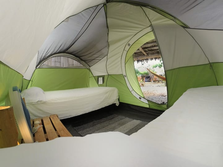 Ecologic glamping at the beach!