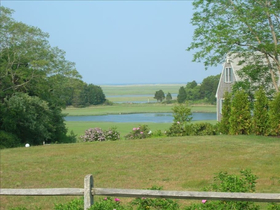 view of inlet and ocean from property