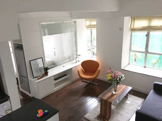 Bright, modern 1.5 room flat in the heart of SoHo