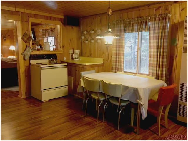 RIVER BEND LODGE: Dirctly on the Au Sable River- Bring your canoe here!