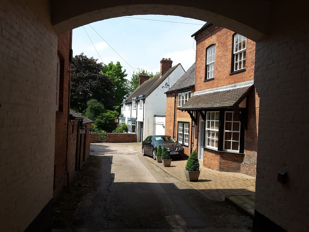 The first view of 3 Whitehall through the carriage archway into the private courtyard..
