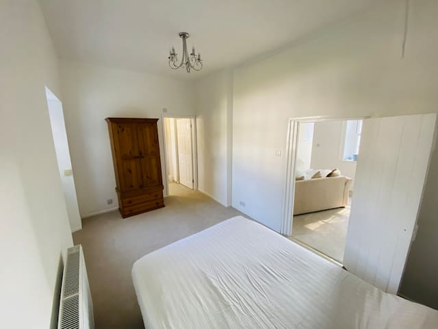 Downstairs double room and en-suite shower room. Located off the lounge