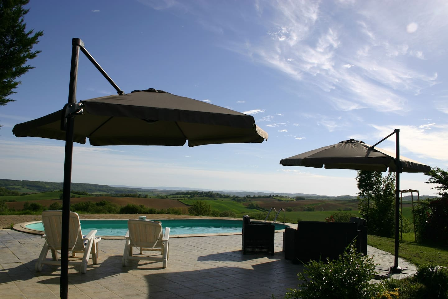 Just relax by the pool and take in the stunning views