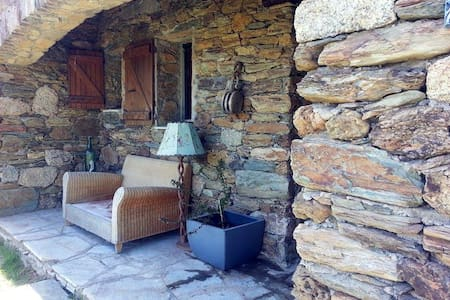 Room in stone house