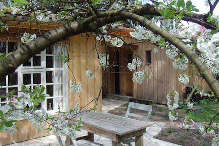 Außergewöhnliche Holzhütte im Wald - Heidesee