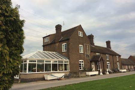 Celebration farmhouse, log cabin & conservatory