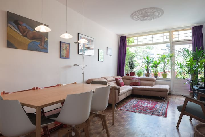 Spacious apt+garden near CS and Zoo - Rotterdam - Stadswoning
