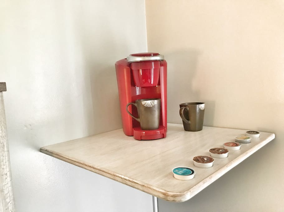 Custom built Keurig station.