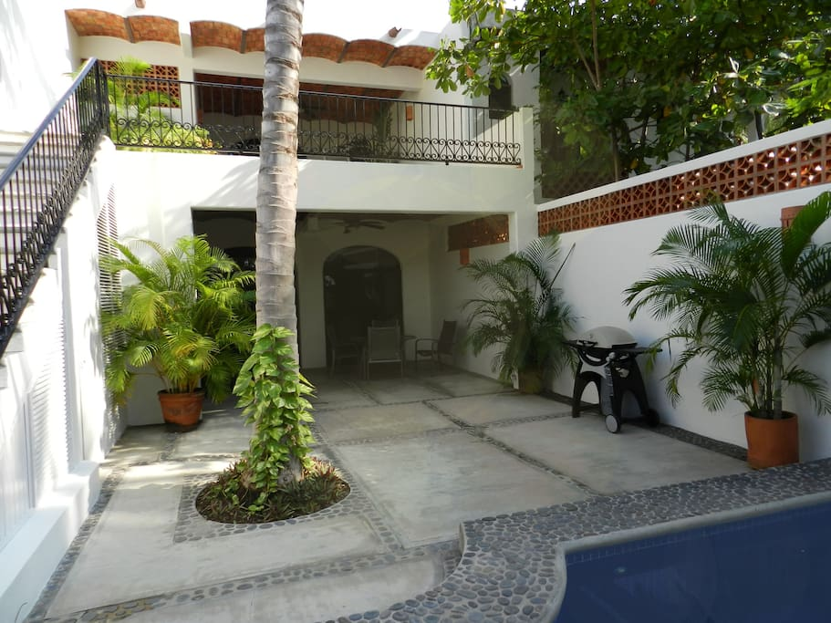 Separate suites on each level with own street access makes Casa Chula easy for sharing