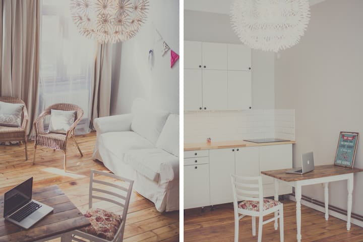Vintage Central with Free Parking - Liepāja - Apartment