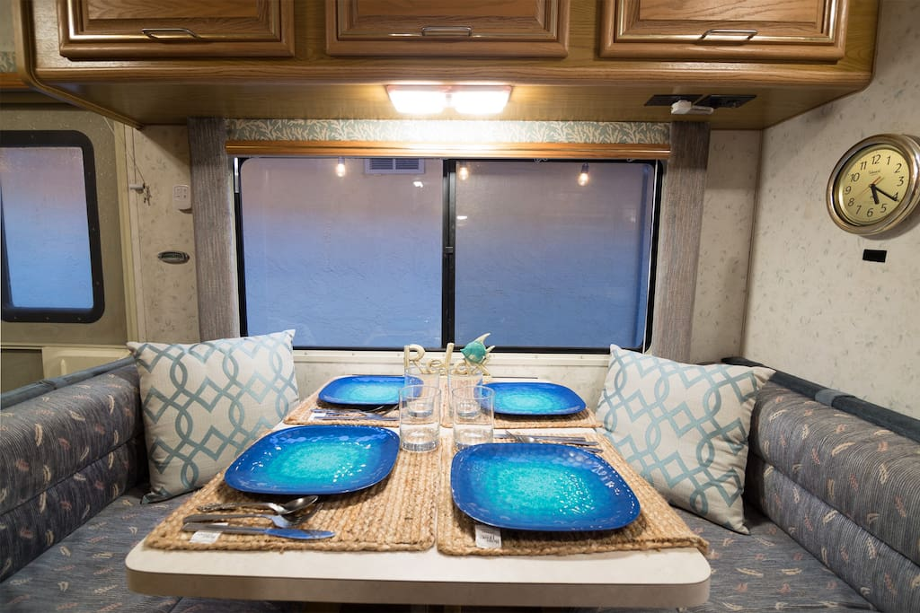 Intimate dining table.