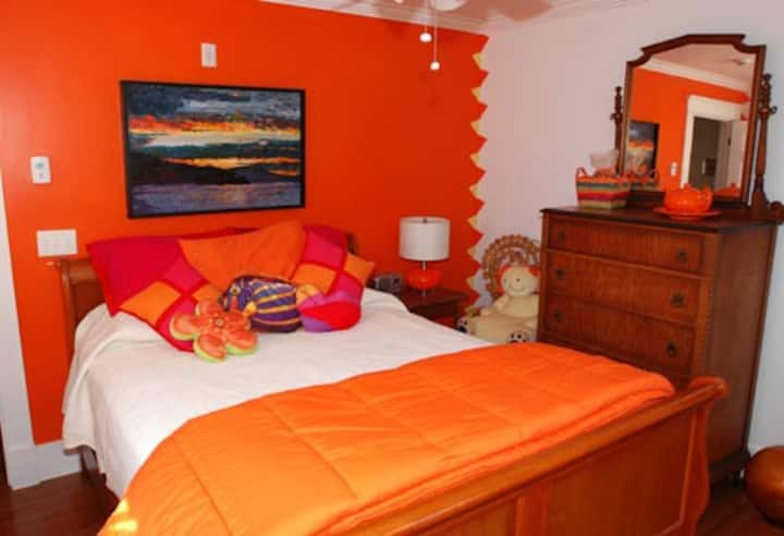 Tangerine Citrine Bedroom, Bold Colorful Life