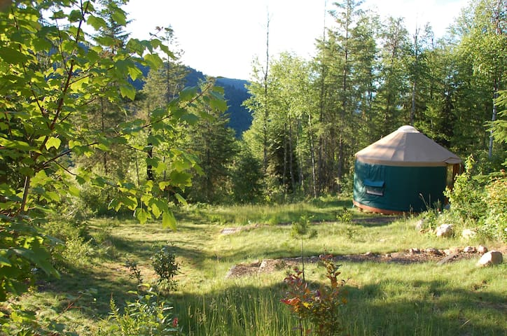 Mountain View Yurt - (Green sleeps 3 max) - Sandpoint - Jurte