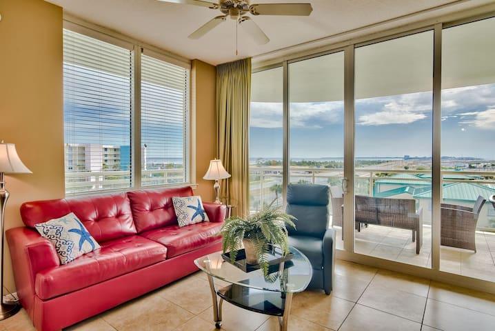 Villa Views @ Destin West 510 | STUNNING Bay & Gulf Views | LAZY RIVER  Fun Pass