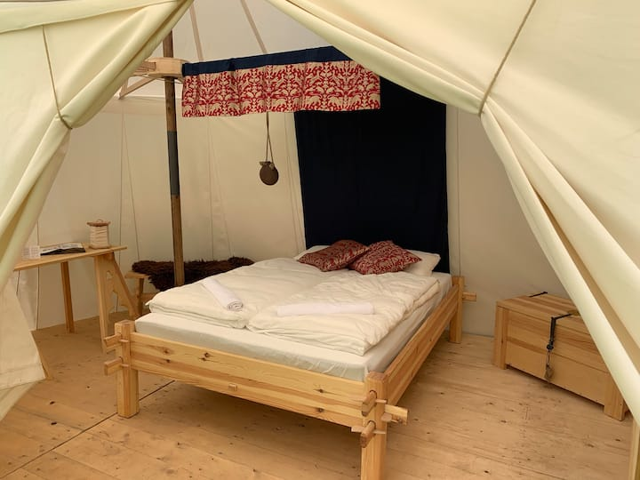 CROWN tent - Medieval Glamour Camp