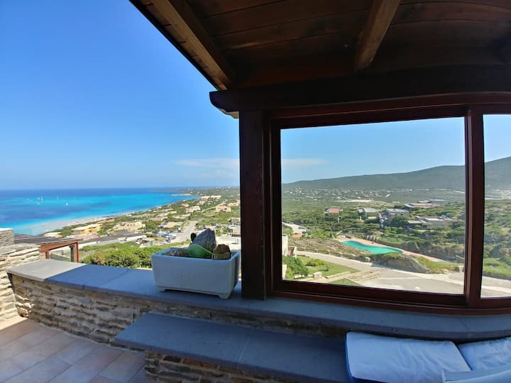 Capo Falcone Panoramic Villa with pool