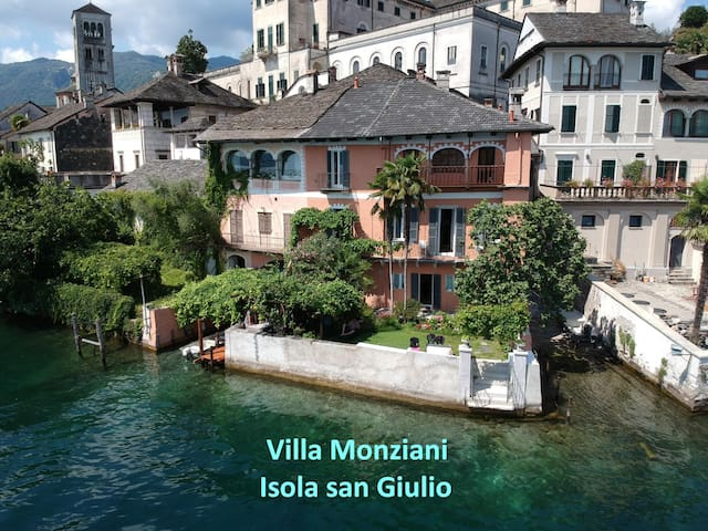 17th C Villa Monziani on the Island of San Giulio.