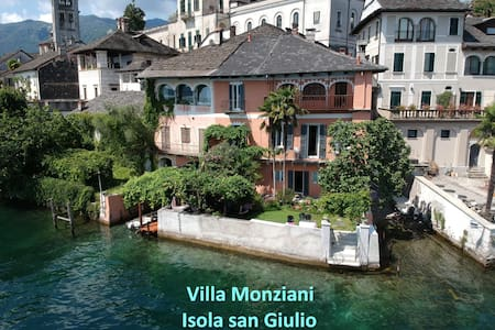 17th C Villa Monziani on the Island of San Giulio.