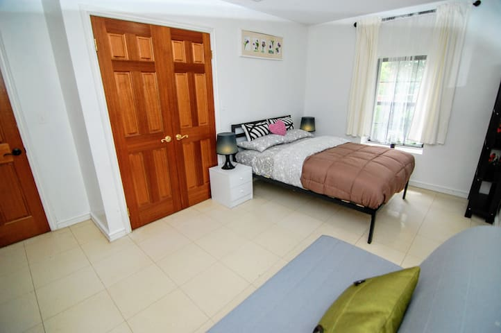 Large bedroom with private bathroom is suit