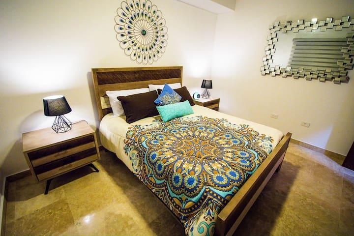 Second bedroom; queen sized bed