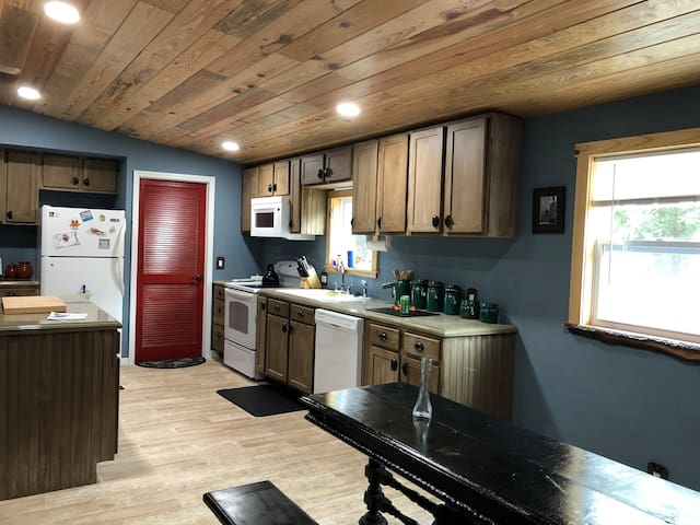 Cabin in the national forest.