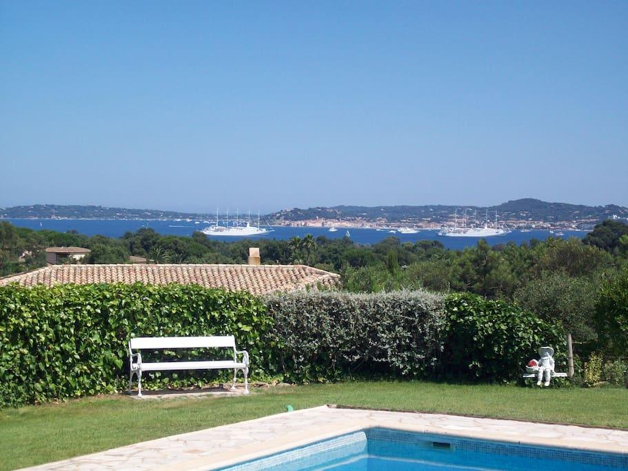 Blick auf die Bucht von St. Tropez