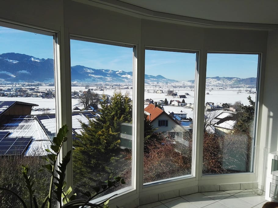 Aussicht vom Wohnzimmer (EG)