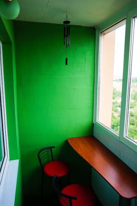 Balcony in your room