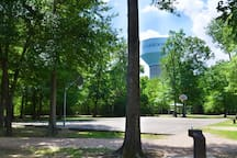 Park with basketball court