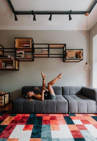 Sala de estar - foto produzida pelos nossos hóspedes Bree e Jose.