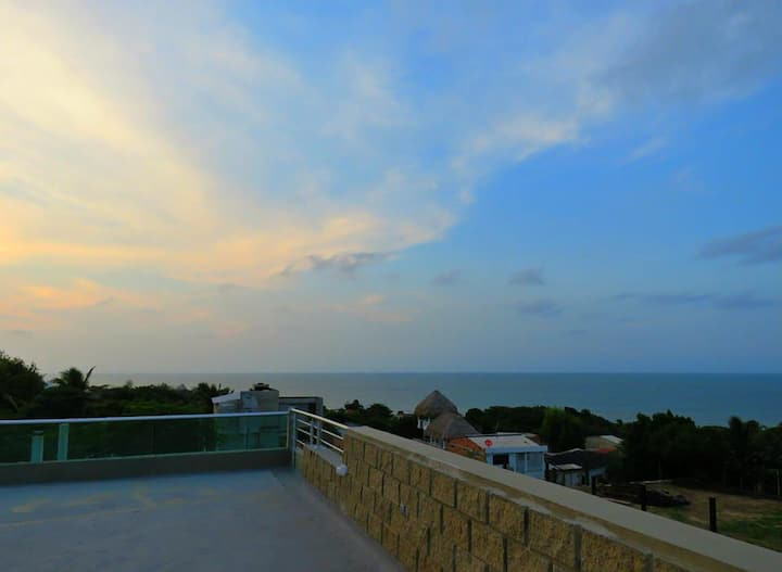 2-room modern apartment vith view to the ocean