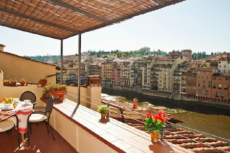 Old bridge apt with stunning view terrace