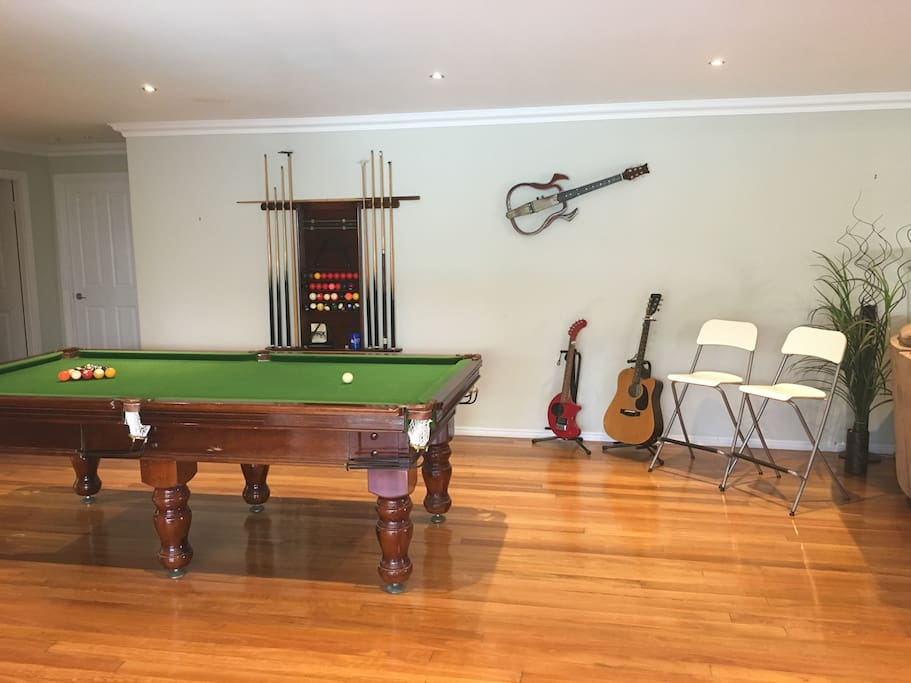 Enjoy a game of pool or challenge the hosts (if you dare) :)