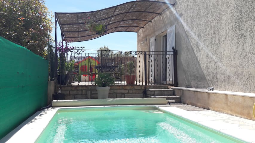 Appartemt 100m2 rdc villa piscine privée