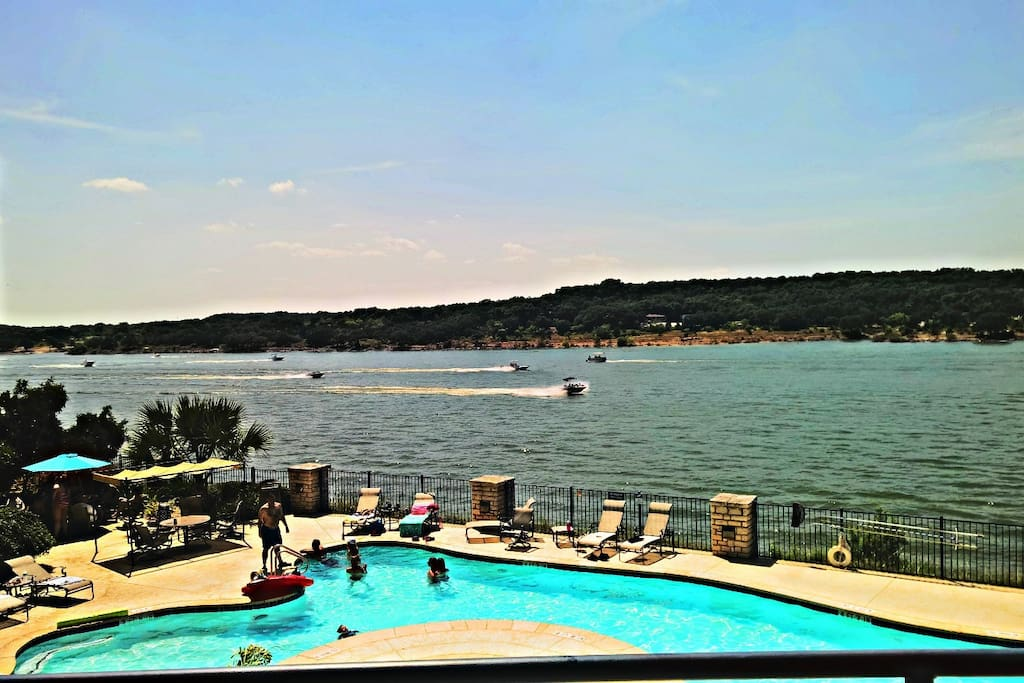 Saturday afternoon on the North Shore of Lake Travis...Your balcony view...