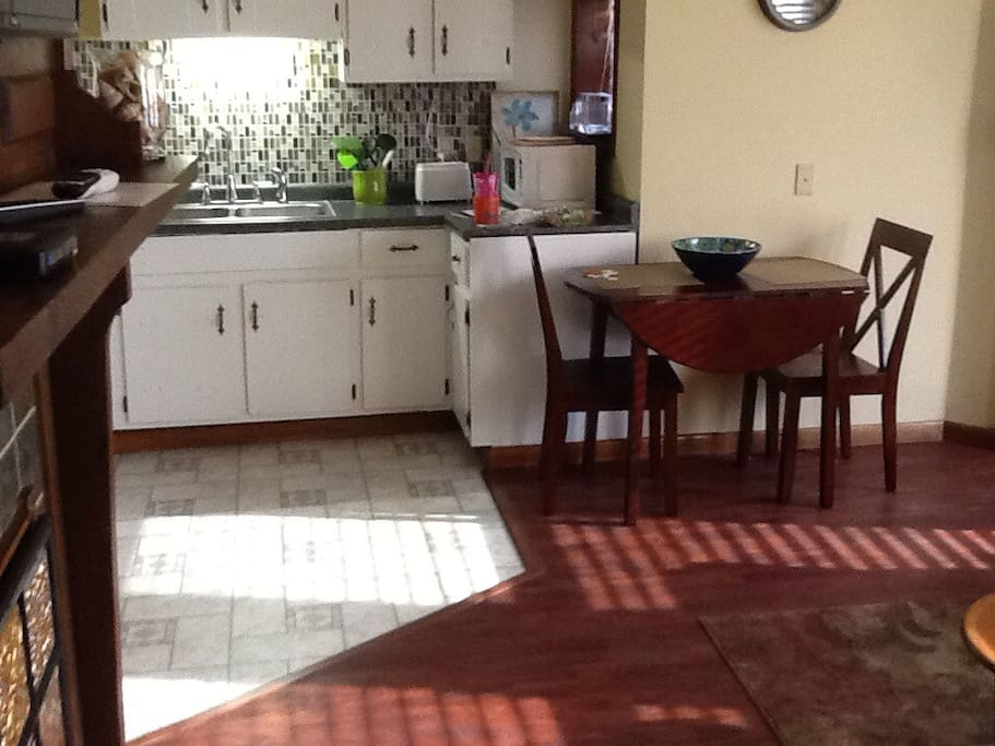 Kitchen & Living Room  are one open room