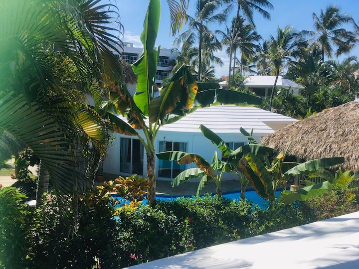 Private villa Cabarete beach - best location