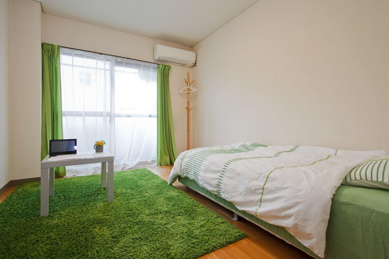 短期の宿泊にはちょうど良い広さj