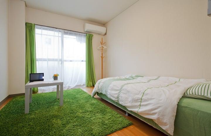 完全貸切206!!近畿大学徒歩7分 Room size 15m2!地元住民の通う近隣のお店の朝食付