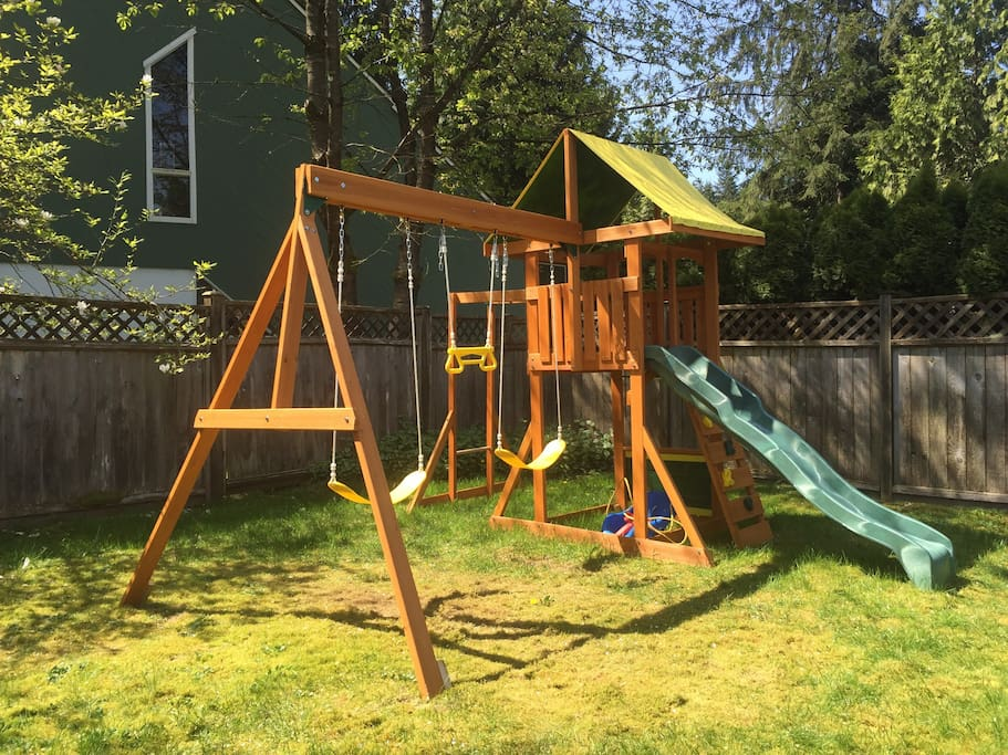 Great backyard for kids to play