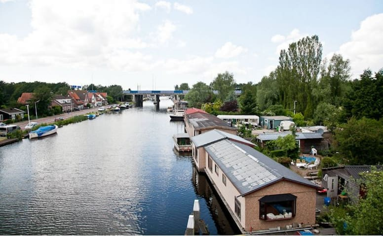 GARDEN APARTMENT &RENTAL CANALBOAT ONLY WEEKDAYS - Amsterdam - Leilighet