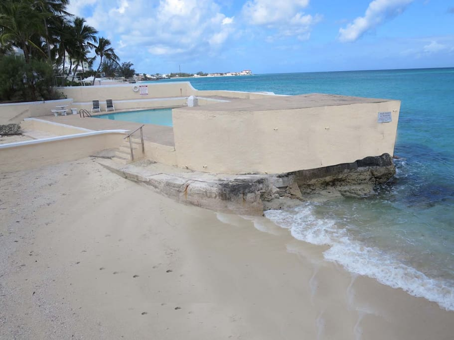 Beach and lower beach