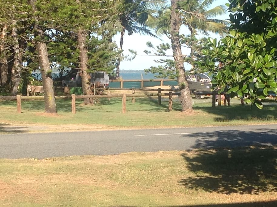 The ocean from the front lawn