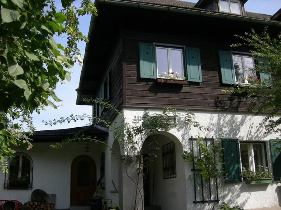 The front side of the house