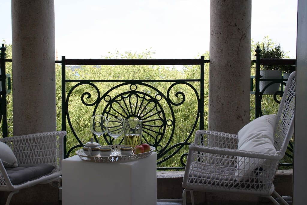 balcony- ideal place for a nice start of the day /breakfast