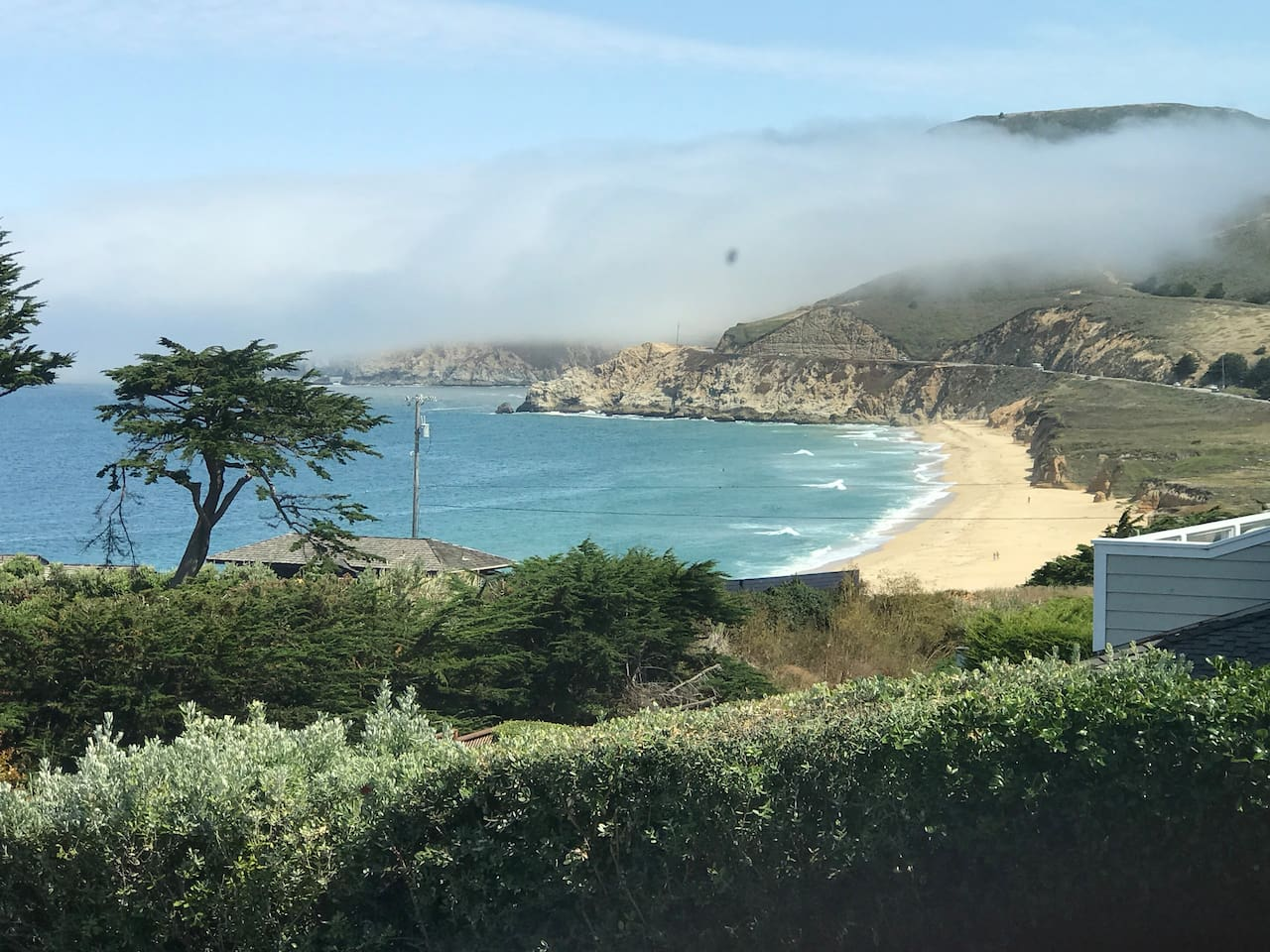 """The """"Money shot"""" (my husband called it that when we first found this home)  Upstairs view of Montara Beach and Ocean. (No zooming needed folks) This view will keep you smiling."""