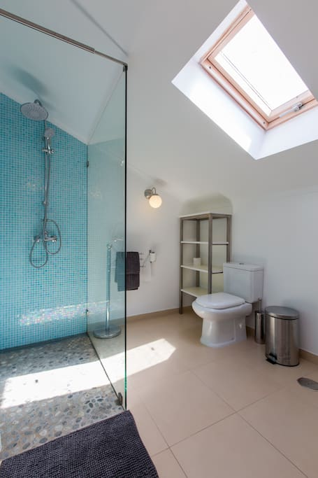 Private ensuite bathroom with luxury shower